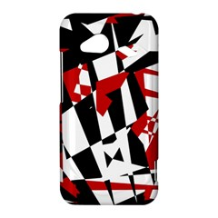 Red, black and white chaos HTC Droid Incredible 4G LTE Hardshell Case