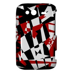 Red, black and white chaos HTC Wildfire S A510e Hardshell Case