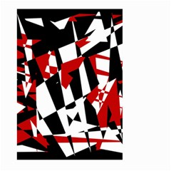 Red, black and white chaos Large Garden Flag (Two Sides)