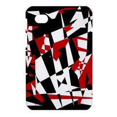 Red, black and white chaos Samsung Galaxy Tab 7  P1000 Hardshell Case