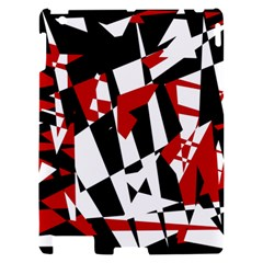 Red, black and white chaos Apple iPad 2 Hardshell Case