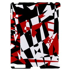 Red, black and white chaos Apple iPad 2 Hardshell Case (Compatible with Smart Cover)