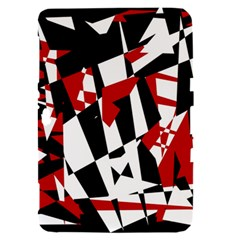Red, black and white chaos Samsung Galaxy Tab 8.9  P7300 Hardshell Case