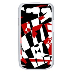 Red, black and white chaos Samsung Galaxy S III Case (White)