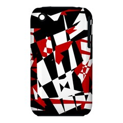 Red, black and white chaos Apple iPhone 3G/3GS Hardshell Case (PC+Silicone)