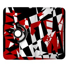 Red, black and white chaos Samsung Galaxy Note II Flip 360 Case