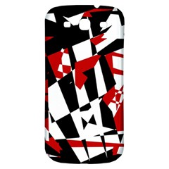 Red, black and white chaos Samsung Galaxy S3 S III Classic Hardshell Back Case