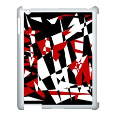 Red, black and white chaos Apple iPad 3/4 Case (White)