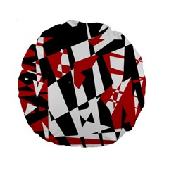 Red, black and white chaos Standard 15  Premium Round Cushions