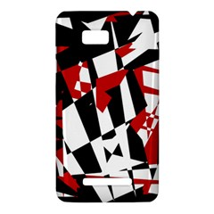 Red, black and white chaos HTC One SU T528W Hardshell Case