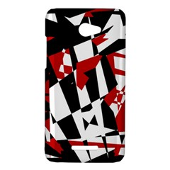 Red, black and white chaos HTC Butterfly X920E Hardshell Case