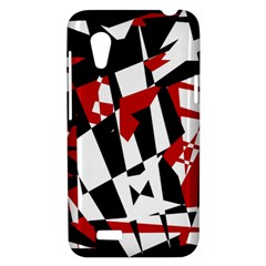 Red, black and white chaos HTC Desire VT (T328T) Hardshell Case