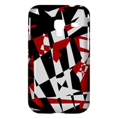Red, black and white chaos Samsung Galaxy Ace Plus S7500 Hardshell Case