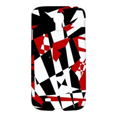 Red, black and white chaos Samsung Galaxy S4 I9500/I9505 Hardshell Case