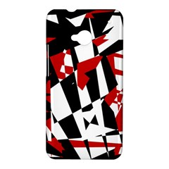 Red, black and white chaos HTC One M7 Hardshell Case