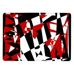 Red, black and white chaos Samsung Galaxy Tab 10.1  P7500 Flip Case