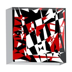 Red, black and white chaos 5  x 5  Acrylic Photo Blocks