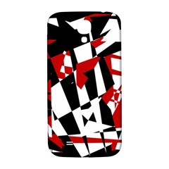 Red, black and white chaos Samsung Galaxy S4 I9500/I9505  Hardshell Back Case