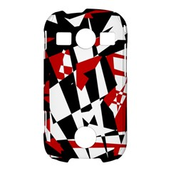 Red, black and white chaos Samsung Galaxy S7710 Xcover 2 Hardshell Case