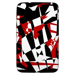 Red, black and white chaos Samsung Galaxy Tab 3 (8 ) T3100 Hardshell Case