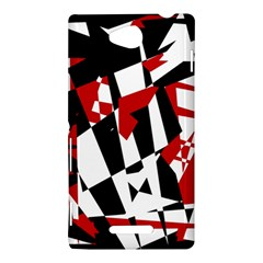 Red, black and white chaos Sony Xperia C (S39H)