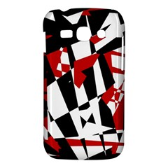 Red, black and white chaos Samsung Galaxy Ace 3 S7272 Hardshell Case