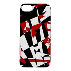 Red, black and white chaos Apple iPhone 5S/ SE Hardshell Case