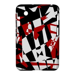 Red, black and white chaos Samsung Galaxy Tab 2 (7 ) P3100 Hardshell Case