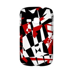 Red, black and white chaos Samsung Galaxy S6310 Hardshell Case