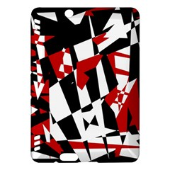 Red, black and white chaos Kindle Fire HDX Hardshell Case