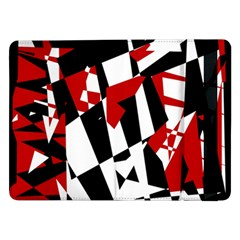 Red, black and white chaos Samsung Galaxy Tab Pro 12.2  Flip Case
