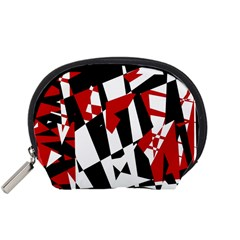 Red, black and white chaos Accessory Pouches (Small)