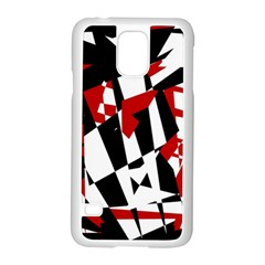 Red, black and white chaos Samsung Galaxy S5 Case (White)