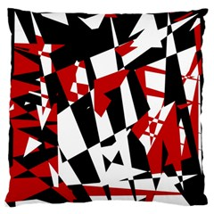 Red, black and white chaos Standard Flano Cushion Case (One Side)