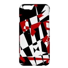 Red, black and white chaos Apple iPhone 6 Plus/6S Plus Hardshell Case