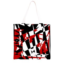 Red, black and white chaos Grocery Light Tote Bag