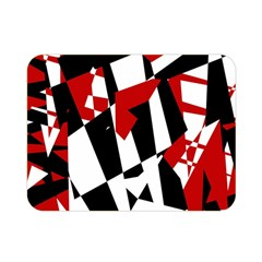 Red, black and white chaos Double Sided Flano Blanket (Mini)