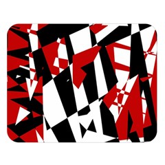 Red, black and white chaos Double Sided Flano Blanket (Large)
