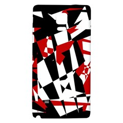 Red, black and white chaos Galaxy Note 4 Back Case