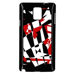 Red, black and white chaos Samsung Galaxy Note 4 Case (Black)