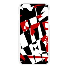 Red, black and white chaos Apple Seamless iPhone 6 Plus/6S Plus Case (Transparent)