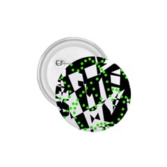 Black, white and green chaos 1.75  Buttons