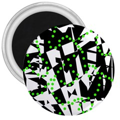 Black, white and green chaos 3  Magnets