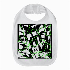 Black, white and green chaos Bib