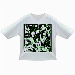 Black, white and green chaos Infant/Toddler T-Shirts