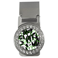 Black, white and green chaos Money Clips (CZ)