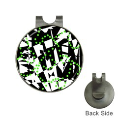 Black, white and green chaos Hat Clips with Golf Markers