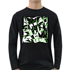 Black, white and green chaos Long Sleeve Dark T-Shirts