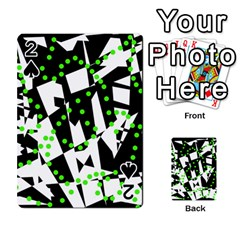 Black, white and green chaos Playing Cards 54 Designs