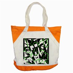 Black, white and green chaos Accent Tote Bag